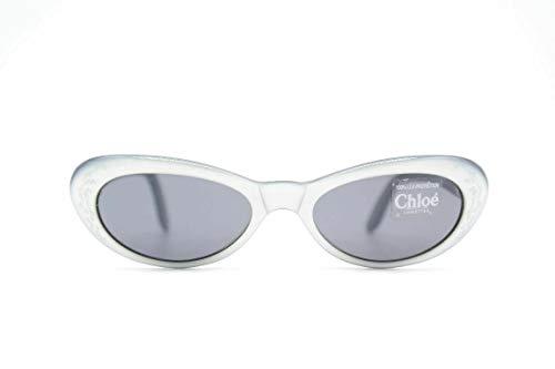 Chloé 11S 101 47[]16 Grijs Zwart ovaal zonnebril zonnebril nieuw