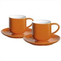 ASA Coppa Espressotassen, Keramik, orange/weiß, 5.8x5.8x5.6 cm, 4-Einheiten