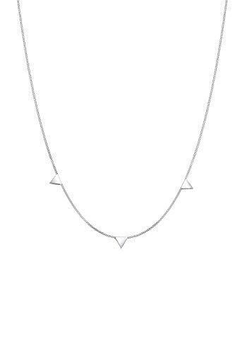 Elli Collares El Triángulo de Mujeres Geo Trend Minimal en Plata Esterlina 925