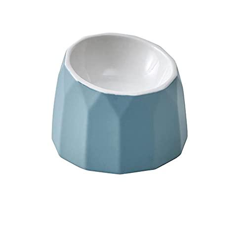 TEAYASON Cuenco de cerámica para perros, plato de agua para perros, fácil de limpiar, cuenco para perros para almacenamiento o viajes (color rosa, azul