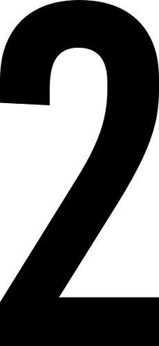 ShirtInStyle Zahlen selbsklebende Aufkleber, von 2-20cm Höhe, Mülltone, Haustür, Basteln, Boote, Nummern, Kennzeichen, Ziffer 2-10cm, schwarz