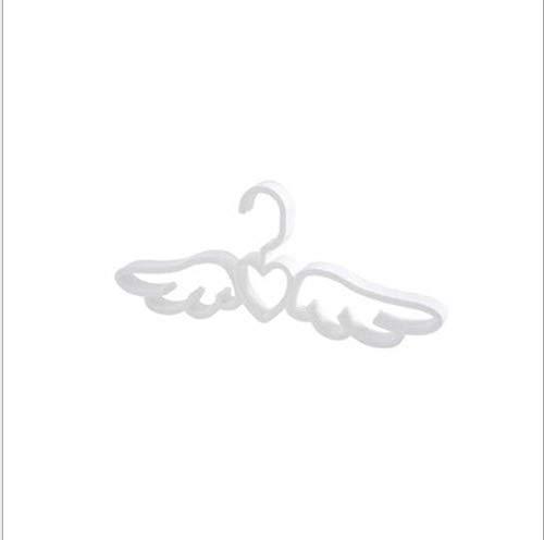 zhaoyangeng 10 Stks Fly Angel Plastic Kleding Shirts Hanger Leuke Wit Grijs Liefdevolle Hart Sjaal Ondergoed Jurk Hanger Rack@Wit