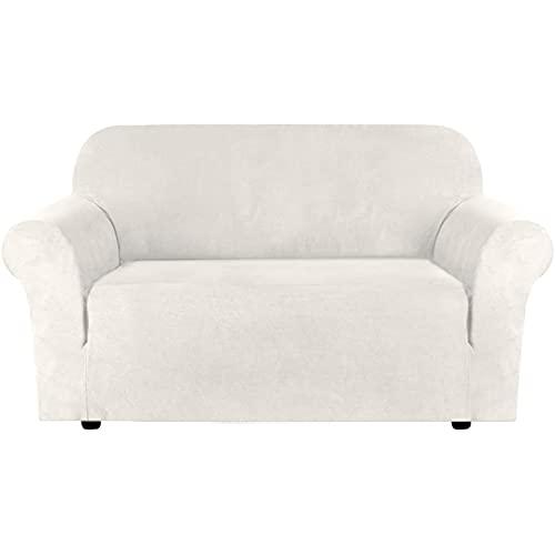 Funda elástica para sofá, funda para sofá, protector de muebles suave con fondo elástico para niños, tela de licra y jacquard,2 seater