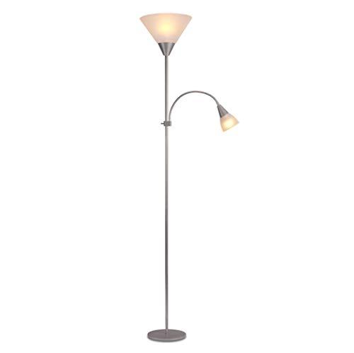 lampadaire Lampadaire, Lampadaire Primaire Et Secondaire, Lampadaire LED, Interrupteur Indépendant, Salle De Séjour (Couleur : Gray)