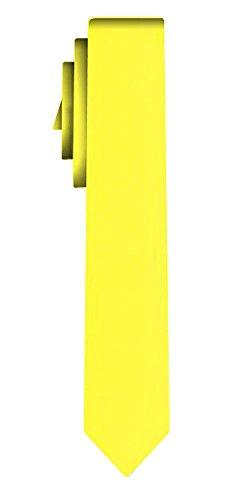 Cravate unie étroite solid lemon VII /6cm