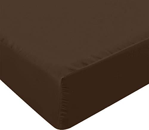 Utopia Bedding Sábana Bajera Ajustable - Bolsillo Profundo - Microfibra Cepillada - (150 x 200 cm, Marrón)