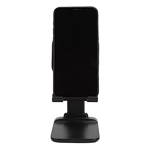 Soporte ajustable para teléfono móvil, soporte para tableta, soporte universal, soporte portátil, para la mayoría de teléfonos móviles y tabletas, diseño de ángulo de inclinación de 45 °(negro)