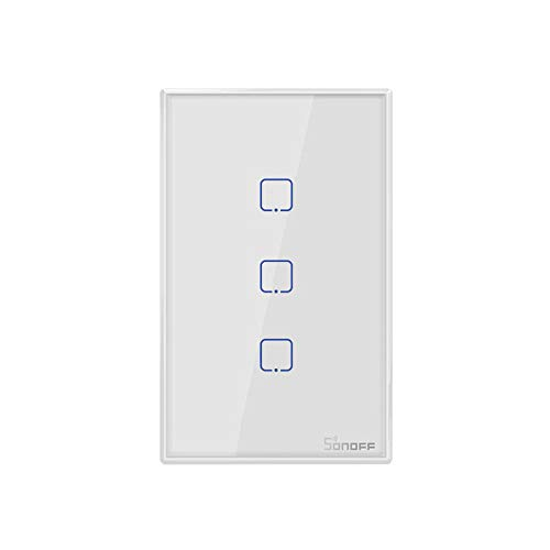 ウォールスイッチ ライトスイッチ SONOFF T2US1C-TX1ギャングスマー スイッチ リモートコントロール APP/タ...