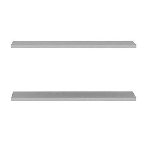 FORTE Ohio Einlegböden 2-er Set, Holz, Grau, 57.7 x 1.5 x 32 cm für Mehrzweckschrank