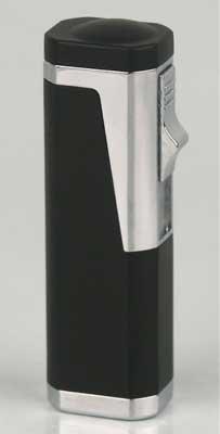 SKY Zigarrenfeuerzeug 3 Flammen mit Rundcutter 6mm schwarz