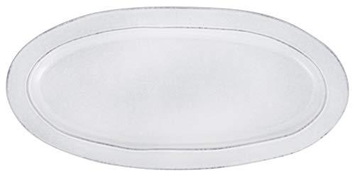 IB Laursen Servierplatte, Teller oval Grey Dunes 37,5x18cm grau Steingut