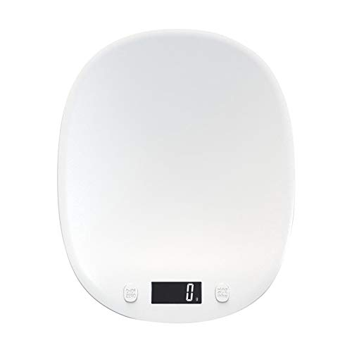 PETSOLA Pantalla Luminosa, báscula Digital de Cocina, cocinar y Hornear Multifuncional para medición de Peso, con un Rango de medición de 10 kg