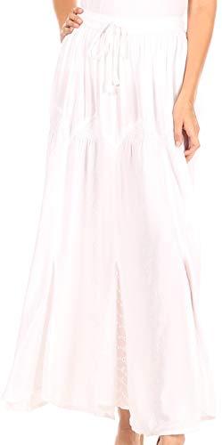 Sakkas Olivia dam Maxi bohemisk lång kjol med elastisk midja och spets