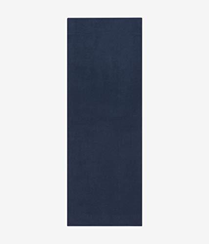 Manduka eQua Quick Drying Absorbent Micro Fiber Non-Slip Yoga Hand Towel, 16 in, Midnight