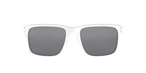 Oakley Herren Holbrook Sonnenbrille, Weiß/Schwarz Iridium, 55 mm