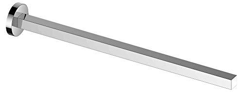KEUCO Handtuchhalter aus Metall, hochglanz-verchromt, einarmig, starr, 45cm tief, für Badezimmer und Gäste-Toilette, Wandmontage, Edition 90