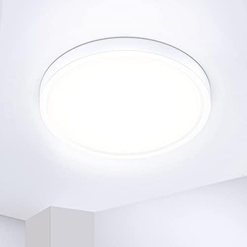 IAB LED Lámpara Techo 24W Plafón de Techo 2200LM Luce Protectora de los Ojos 4 Capas UltraFino Luz LED Techo 4500K para Dormitorio Balcón Pasillo Cocina Habitación IP44