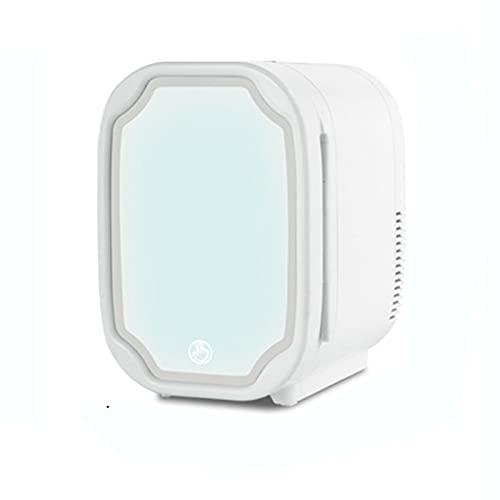 YICHEN Mini refrigerador Personal 8 litros de Belleza portátil con Espejo de Maquillaje led luz. para Dormitorio, Dormitorio, Coche Great, Skincare & Cosmetics