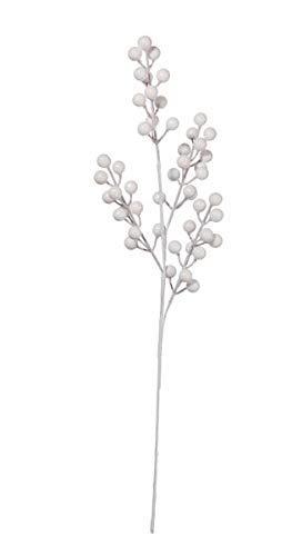 ASA DEKO Beerenzweig, weiß L. 49 cm