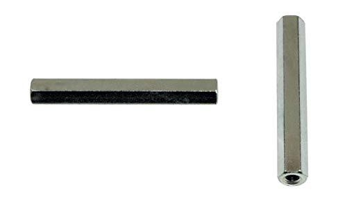SN-TEC Distanzmutter/Langmutter/Distanzbolzen 6-kant M8 x 60mm verzinkt (10 Stück)