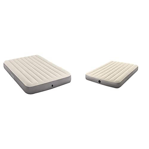 Intex 64709 - Colchón Hinchable, 152 X 203 X 25 Cm + 64102 - Colchón Hinchable Dura-Beam Standard Deluxe Single-High - 137 X 191 X 25 Cm