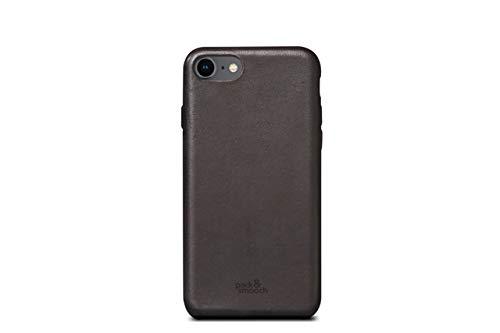 Pack und Smooch Für iPhone 8 Lederhülle Ledercase Backcover -Chester- aus Pflanzlich gegerbten italienischem Leder (Dunkel-Braun)