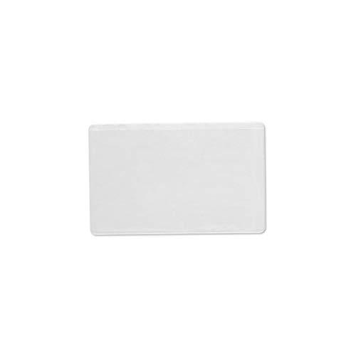 Visitenkartentaschen Visitenkartenhüllen selbstklebend transparent 95x60mm BxH lange Seite offen - Menge wählbar 100, 300, 500 Stück