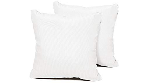 TK Classics PILLOW-WHITE-S-2x Pillows Patio Furniture, Sail White
