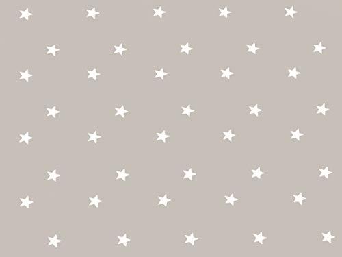 Home Direct Mantel de Hule, Rectangular 140 x 180cm Estrellas, Gris Beige