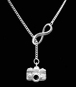 Regalo para ella, collar de cámara infinita, fotógrafo, fotografía, viaje, imagen de memoria, regalo de tiempo congelado y Lariat collar