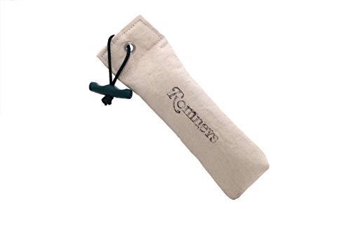 Romney's Dummy weiß ca. 350 g | Inklusive Wurfgriff | Schwimmfähig und unsinkbar | Ideal für das Apportiertraining (weiß)