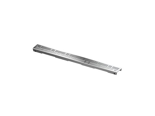 TECE Drainline Duschrinne Komplettset / Duschrinnen Designrost Basic Dusch-Ablaufrinne, Länge § tece baulänge:1200 mm