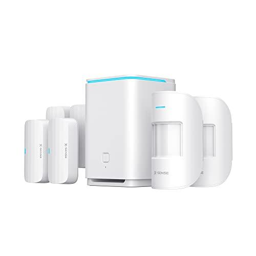 X-Sense Smart Home Security Alarm System, 8-Piece Wi-Fi Security System...