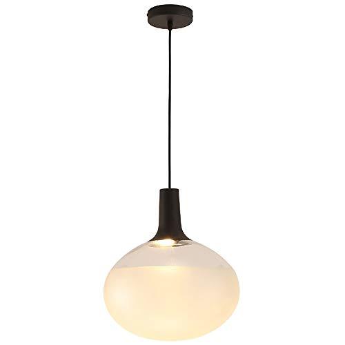 CHENJUNAMZ Simple Bola de luz Blanca del Hierro Ajustable de Cristal + Habitación Sala Restaurante Estudio de la lámpara/Lámparas