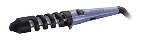 Remington Dual Curl CI63E1 - Rizador de pelo, Pinza de 19 a 31 mm, Cerámica, Hasta 200 ˚C, Morado y Negro