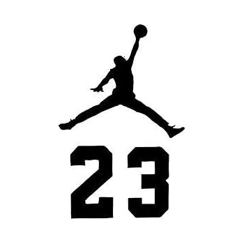 personalizado Descodificar seré fuerte  Amazon.com: NBA Jordan 23 Jumpman Logo AIR Huge Vinyl Decal Sticker for  Wall Car Room Windows (5.5