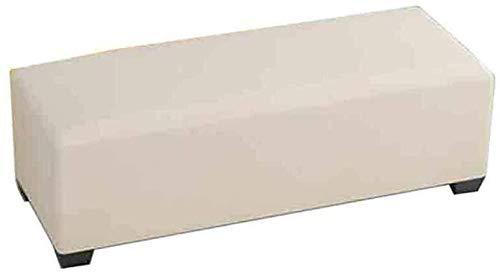 Sofá Escabel, Rectangular algodón de Lino de la Cubierta de la Sala Dormitorio Banco 115 1026 (Color : Creamy-White, Size : 120cm)