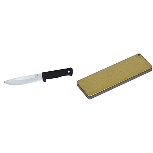 Fallkniven A1K - Cuchillo de hoja fija, Negro + DC4 Piedra de Afilar