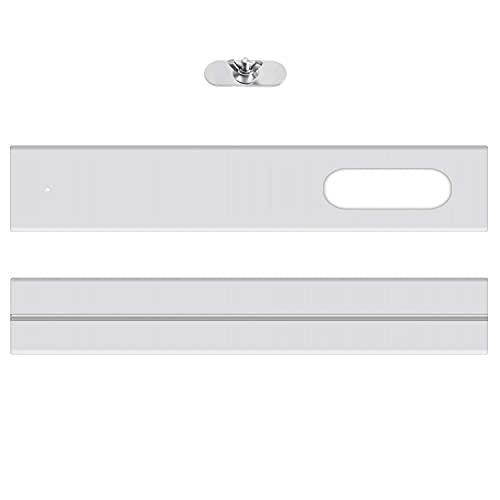 ASKAWTE 2PCS Air Conditioner Window Sealing Plate,Portable Air Conditioner Window Vent Kit, Adjustable Length Portable Ac Vent Kit, Window Slide Kit Plate for Portable Air Conditioner