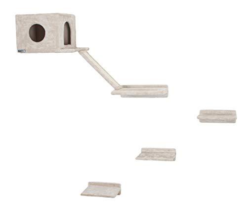 Kerbl 81634 Kletterwand für Katzen Montblanc, 6-Teilig, Beige
