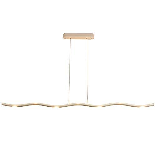 TRPYA Lampadario a LED Long Strip Lampadario, Moderno Ufficio per Ufficio Plafoniera Soggiorno Decorazione Luminosa Illuminazione Lampada a Sospensione a Barre Creativa (Size : 7 Lamp Head 125cm)
