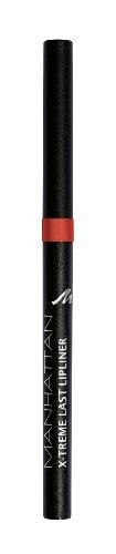 Manhattan X-Treme Last herausdrehbarer Lipliner, Intensive Farbe & definierter Halt, Farbe Coral Red 34N, 1 x 0,2g