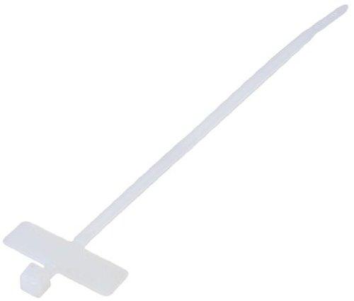 Kabelbinder mit Beschriftungsfeld quer 200 x 2,6 mm, zum Abbinden bis Durchmesser 50 mm, weiß, 100 pcs im Polybeutel