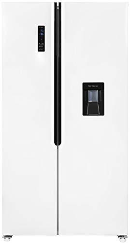 Exquisit Side by Side Kühlschrank SBS 160-4 XWTA++ | Wasserspender | No Frost | 518 Liter |Weiß