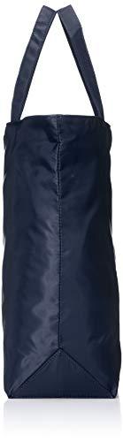 [キタムラ]折りたたみショッピングバッグ目隠しフラップ付きZH0108エコバッグサブバッグダークブルー[紺]10101