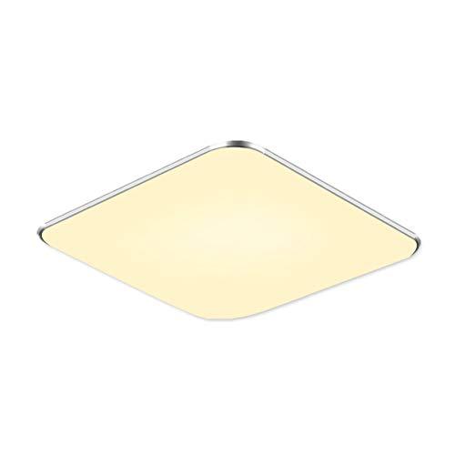 Fscm 12W LED Deckenleuchte Lampe Modern Deckenlampe Deckenleuchten für Bad Schlafzimmer Küche Balkon Korridor Büro, PVC Abdeckung Alu Rahmen Platz 300x300x100mm, 2800-3500K Warmweiß IP44