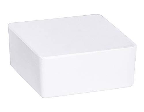 WENKO Nachfüller Raumentfeuchter Cube mit Orangenduft, Nachfüllpack für Luftentfeuchter, reduziert Schimmel & Gerüche, 1 kg Granulatblock, sofortige Wirkung bis zu 3 Monate, 12 x 5 x 12 cm, Weiß