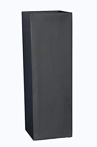 Pflanzkübel der LANDESGARTENSCHAU Baden-WÜRTT. L30x B30x H90cm aus Fiberglas in schwarz-anthrazit, Blumenkübel, Pflanztopf