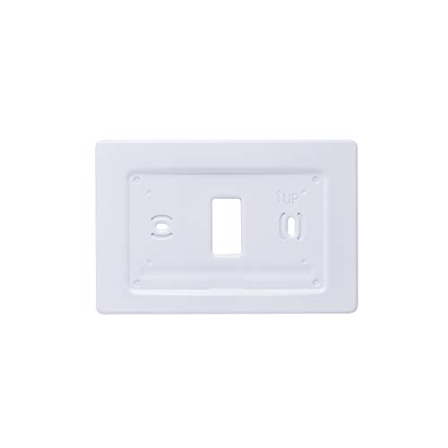 BLENKL Aluminum Decorative Wall Trim Plate Mount for Emerson Sensi Smart Home WiFi Thermostat (Non-Touch Screen, White)