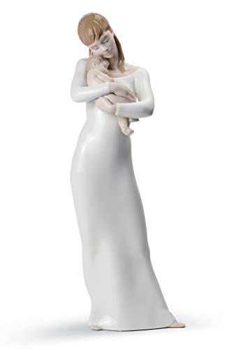 LLADRÓ Figura Madre Buenas Noches Mi Ángel. Figura Madre de Porcelana.